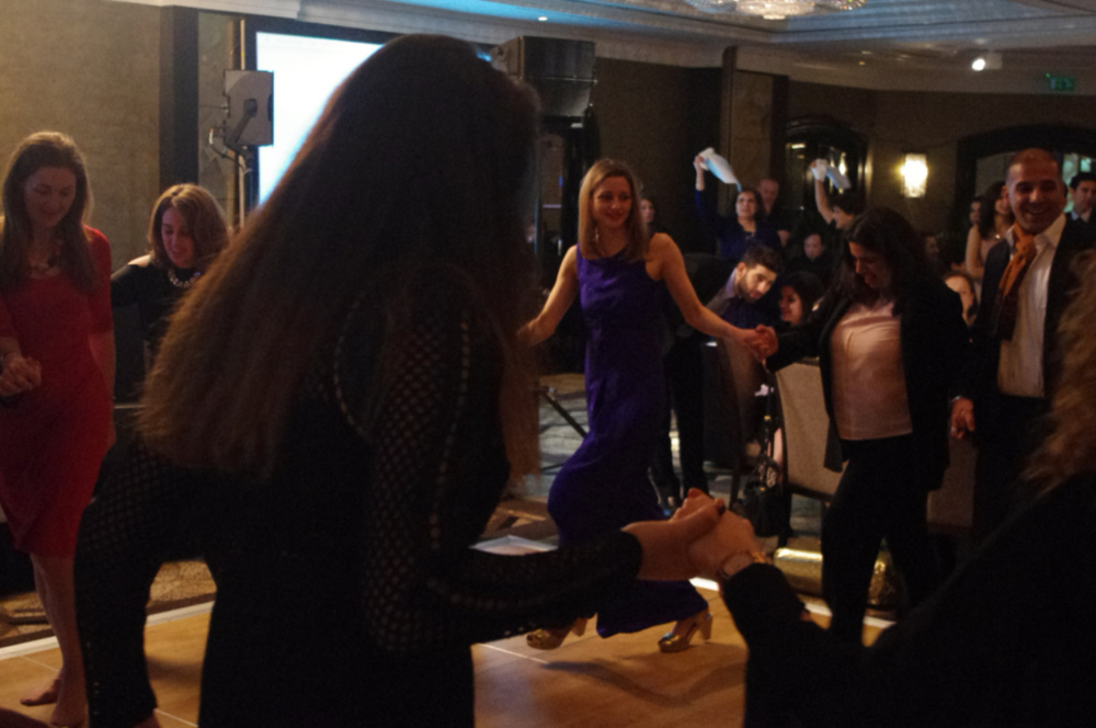 Dabke workshop  at the annual fundraising dinner 2017