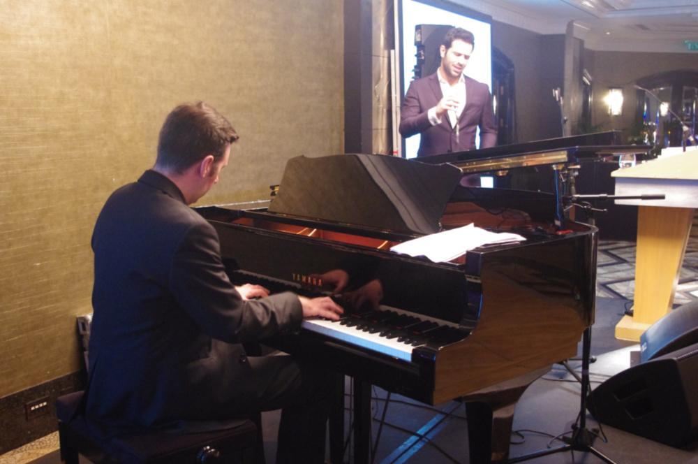 Omar Kamal & Rob Barron performing  at the annual fundraising dinner 2017