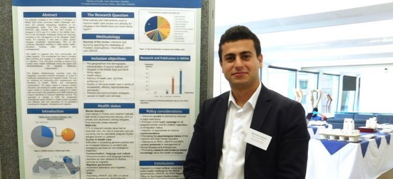 Abdelrahman at the Oxford Global Health and Bioethics International Conference