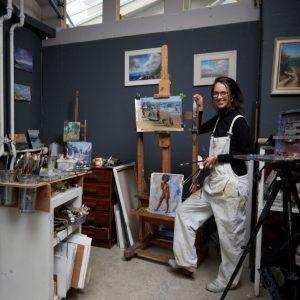 Daisy Perkins painting