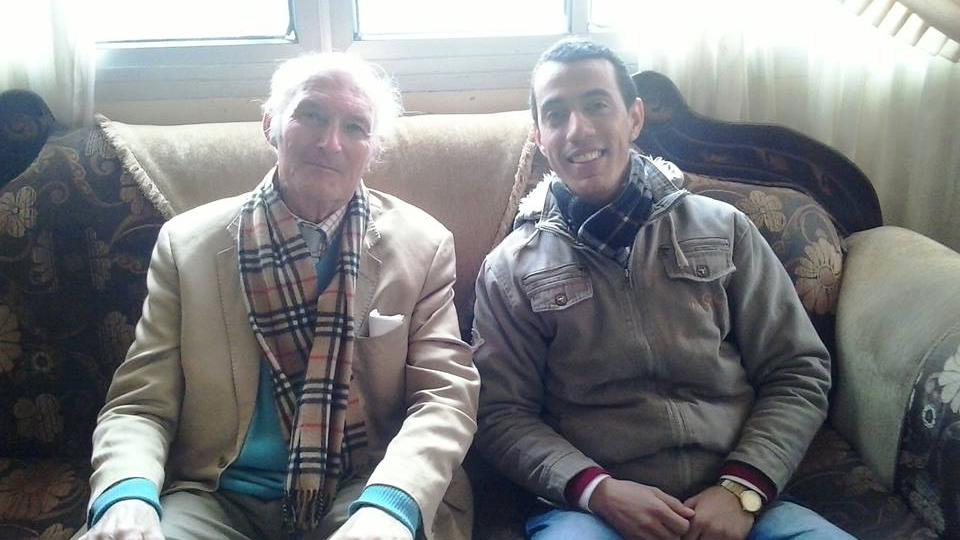 Ayman and his mentor Nick